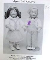 Vtg 80s Crochet Pattern Byron Doll Googly Twin Outfits 15.5