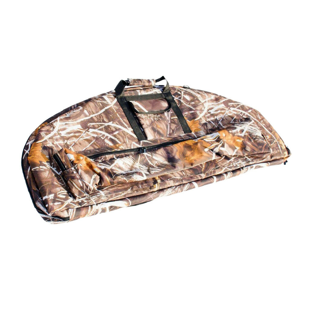 Camo Durable Archery Compound Bow Bag Carry Case Outdoor Hunting 115x45cm