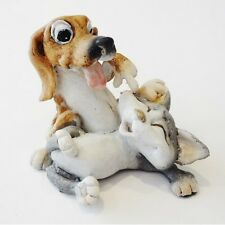 Tickles Cat & Dog Figurine Made from polyresin