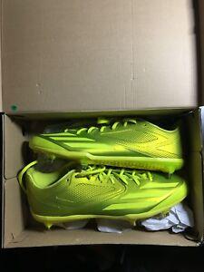 NEW  Adidas adizero Afterburner 3 E Baseball Cleats Yellow Size 13.5 ... 2e1baab90
