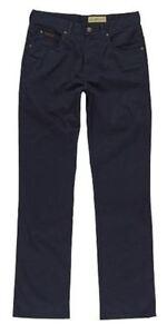 Marino Extra Wrangler Suave Algodón Elástico Chino Pantalón Azul Texas Alta OqSwX