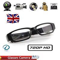 32GB HD 1280*720P HIDDEN SPY AUDIO/VIDEO CAMERA DVR IN WEARABLE GLASSES/EYEWEAR