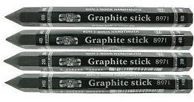 Koh-I-Noor Progresso Woodless Graphite Sticks in Grades HB 6B