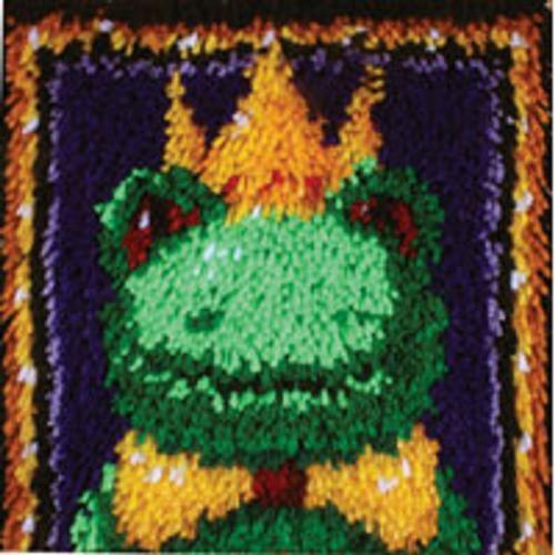 Frog Prince Latch Hook Rug Making Craft Kit