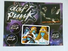Daft Punk Discovery Sticker Sheet Official Promo Only 2001 Virgin