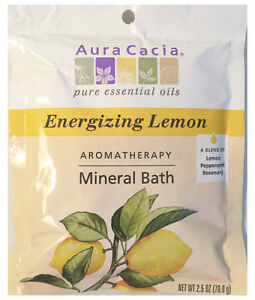 AURA-CACIA-LEMON-MINERAL-BATH-2-5-OZ-With-Natural-Essential-Oils