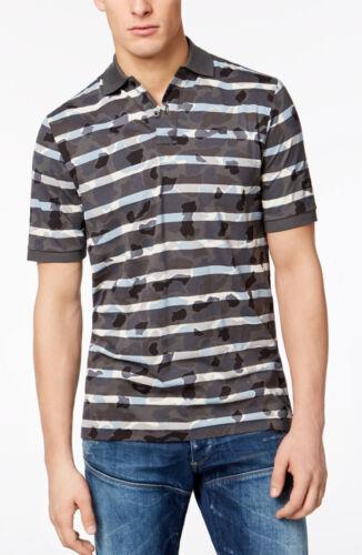 G-Star Raw Men's Black Swando Camo Stripe Short Sleeve Polo Shirt