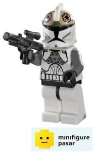 sw221 Lego Star Wars 8014 8039: Clone Gunner Minfigure with Blaster - New