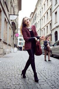 Kayture Zara Blazer Rouge Veste Combinaison Fantaisie Cuir Manteau Petit Bloggers rn0xr7qw6