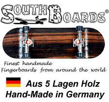 EDEL Board SET OAK/GO/SWZ - SOUTHBOARDS® Handmade Wood Fingerboard Deck, Holz