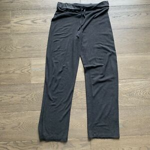 eileen fisher gray super stretchy lounge pants drawstring
