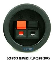 (500 PACK) SPEAKER BOX  PUSH SPRING TERMINAL CUP CONNECTOR SUBWOOFER