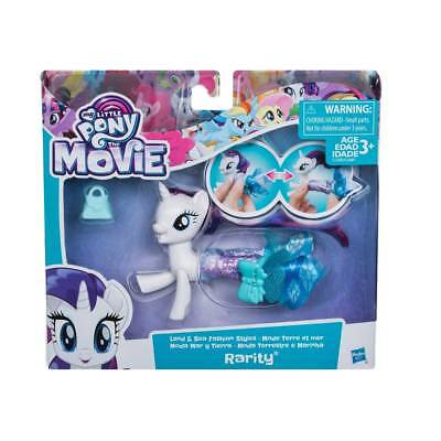 Rarity My Little Pony The Movie Land & Sea Fashion Style Ponies Playset Licensed