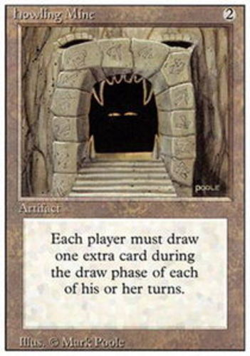 1x Howling Mine Moderate Play, English 3rd Edition Revised MTG Magic