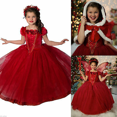 FREE P&P Elsa Anna Kids Girls Dress Costume Princess Party Fancy Dresses + Cape