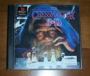 Playstation-1-Gioco-THE-CHESSMASTER-3D-Scacchi-Booklet-Istruzioni-PS1-Game