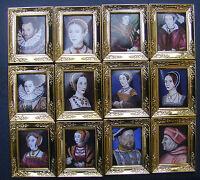1:12 Scale Framed Picture (print) Tudor Series Dolls House Miniature Art