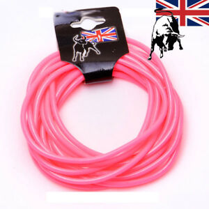 12-x-Pink-Gummies-Shag-Bands-Bracelets-fancy-Gummy-Wristbands-Jelly-80-039-s-bangles