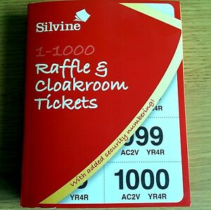 new cloakroom fundraising raffle tickets book 1 000 silvine