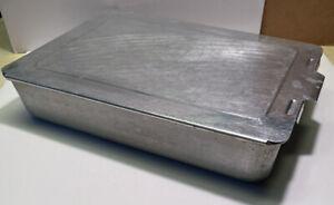 Vintage-Aluminum-Brownie-Baking-Pan-Mirro-5488M-9x13x2-5-8-Slide-On-Lid-Cover