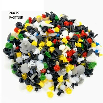 200 Pz Fastener Assortiti Fermi Paraurti /pannelli Portiere