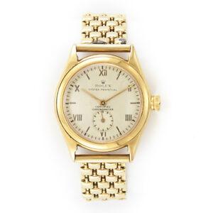 055da44a6ad A imagem está carregando Raro-Senhoras-Rolex-Ouro-18k-relogio-de-volta-
