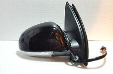 VW Golf Mk5 2004-2009 Driver Side  Electric Door Mirror BLACK PAINT CODE LC9Z