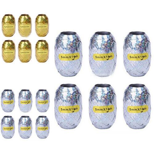 6tlg Folien Ballon Band Seil Hochzeit Geschenk Geburtstag Party Dekor 5mm*10m