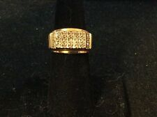 VINTAGE 10K YELLOW GOLD DIAMOND MEN'S RING SIZE 6.5
