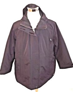 aac34c1007 Lands  End Women s Black Plus Size Petite Squall Insulated Parka ...