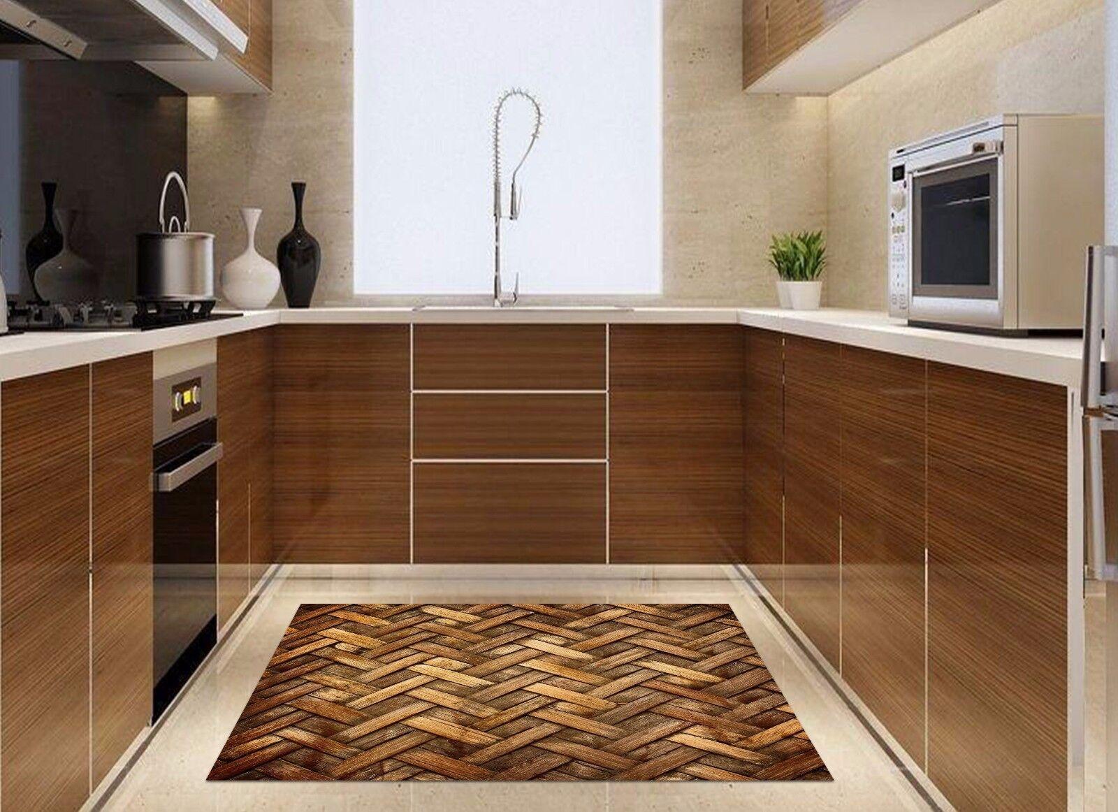 3D Weave 662 Kitchen Mat Floor Murals Wall Print Wall AJ WALLPAPER UK Kyra