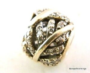 beb20ef20 NWT AUTHENTIC PANDORA CHARM LIGHT AS A FEATHER #791186CZ 50%OFF ...