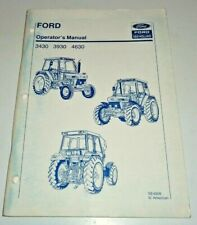 Ford 3430 3930 4630 Tractor Operators Owners Manual Original 590 Nh