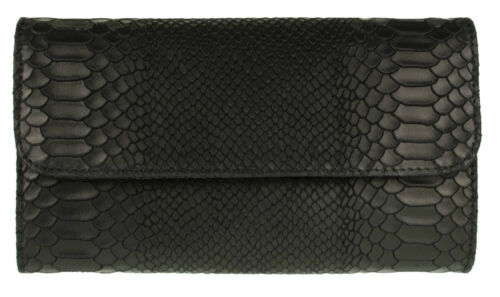 Snake Print Genuine Suede Clutch Bag Italian Leather Evening Handbag Designer