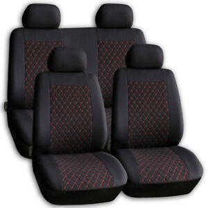 Universal Sitzbezüge für Opel Astra F Schwarz Autositzbezug Schonbezüge Bezug