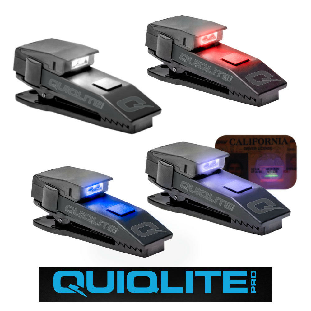 New QuiqLite Pro inc. QuiqFlare Clip-On Dual LED  Safety Light Emergency Services  100% free shipping