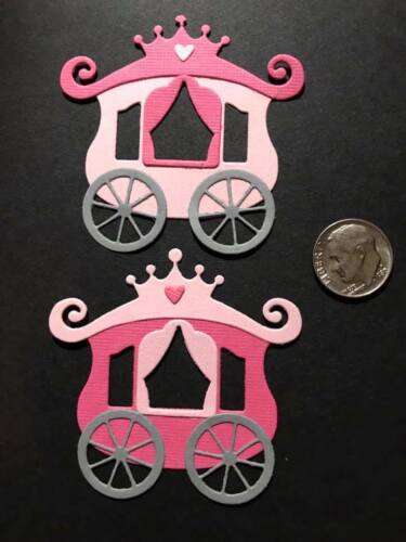 Scrapbook /& Card Making 2 Carriages Premade PAPER Die Cuts