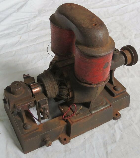 Finch Carlisle Dynamo Electric Motor Generator Old Vtg Antique