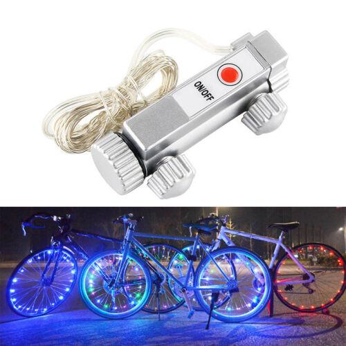 Bicycle 20 LED Bike Cycling Rim Wheel Light On Off Flash Spoke Light String Lamp
