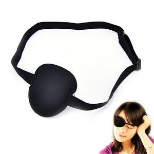 Medical-Use-Concave-Eye-Patch-Foam-Groove-Adjustable-Strap-Washable-Eyeshades-KI