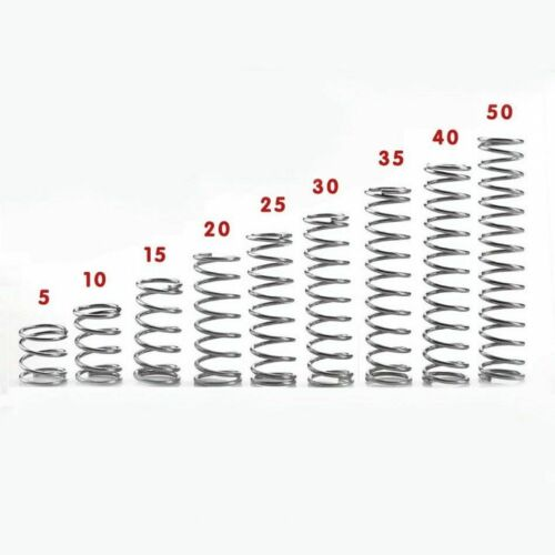 10pcs 304 Stainless Steel Spring Compression Pressure Springs 0.6mm 0.7mm 0.8mm