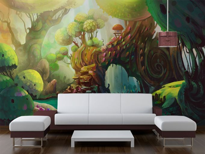 3D Arbre Magique 2 Photo Papier Peint en Autocollant Murale Plafond Chambre Art