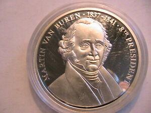 1998-American-Mint-The-US-Presidents-Medals-Martin-Van-Buren-1837-41-Cameo-Proof