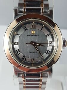 Universal Geneva 18 karat gold and stainless automatic , working! nice watch