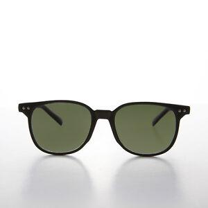 Horn Rimmed Square Frame Sunglasses