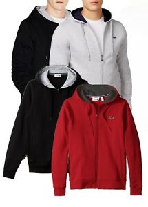 0f7fe753ecfde9 Image is loading Lacoste-Men-s-Athletic-Sport-Fleece-Zip-Hoodie-