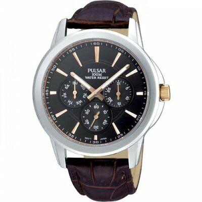 Armband- & Taschenuhren Armbanduhren Pulsar Gents Leather Strap Calendar Watch Pp6019x1-pnp Zu Verkaufen