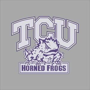 TCU Horned Frogs NCAA College Vinyl Decal Sticker Car Window Wall - College custom vinyl decals for car windows
