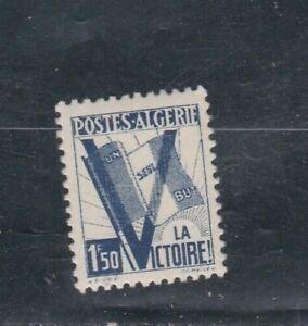 ALGERIE-TIMBRE-N-Y-amp-T-199-de-1943-034-pour-la-victoire-034-Neuf-port-maxi-1-euro