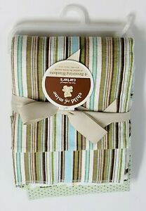 Carter-039-s-Child-of-Mine-Baby-Boy-4-Receiving-Blankets-NEW